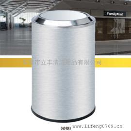 LF-B48-A港式翻盖垃圾箱 厂家直销不锈钢垃圾桶