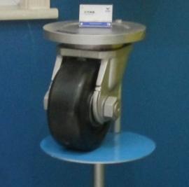 聚氨酯包胶轮360万向轮高精度驱动转向轮重型工业搬运车轮