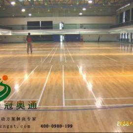 冠奥通符合DIN标准运动木地板给你一个高质量的实木运动场地