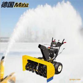 进口手推式扬雪、扫雪、除雪机柴油驱动