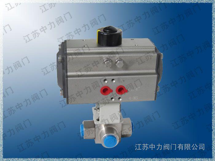 Q616N高压/气动/不锈钢/T型三通球阀