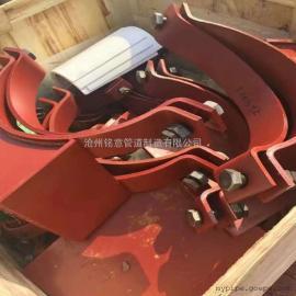 铭意厂家直供Z3 1220S管夹滑动支座 D3双孔短管夹 大口径支座