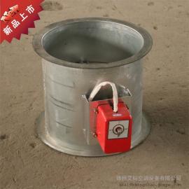 厂家直销不锈钢70度圆形防火阀 电动风量调节阀