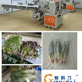 精品袋子装蔬菜包装机,超市销售枕式蔬菜包装机
