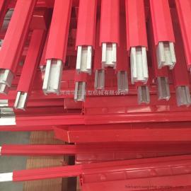 管式单极导轨线 800A铜滑触线 堆垛机供电滑触线 集电器 支架