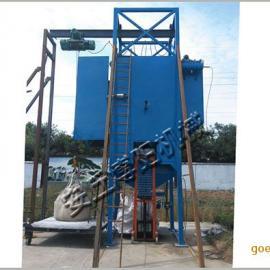 活性钙吨袋卸料机价格、吨袋破袋机厂家直销