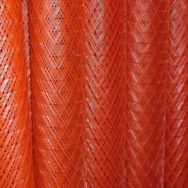 乐山1.5米、1.8米高喷红漆挡粮钢板网加工-10米成卷钢板网
