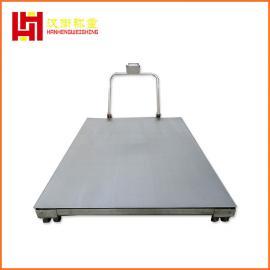 500公斤手推移动式电子磅秤 带轮子移动电子平台秤