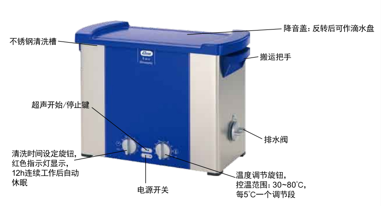 德国清洗机elma P60H/可调37/80KHZ超声波频率