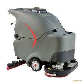 青岛平度超市用高美电动手推式洗地机GM70BT全自动洗地机价格