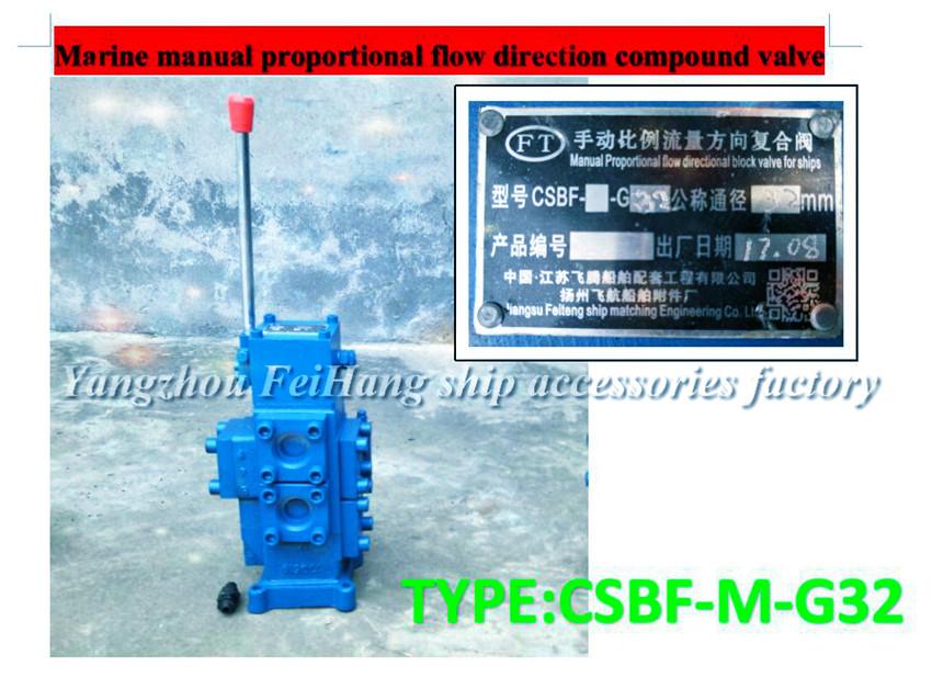 关于船用船用手动比例流量方向复合阀CSBF-M-G32的结构尺寸