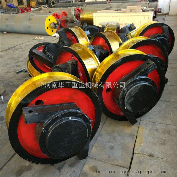 四轮驱动转弯车地轨轮组 700*180火车轨道行走轮 定做套装轮组