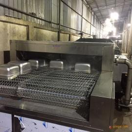 潮州揭阳通过式不锈钢拉伸件快速除油喷淋清洗烘干机