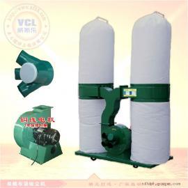 双桶布袋吸尘机 家具木业滤袋集尘器 移动式工业吸尘除尘器3KW