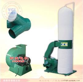木匠机械移动式单桶布袋吸尘机2.2KW/380V 工业清灰设备
