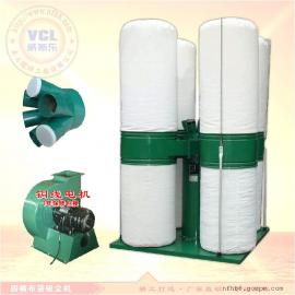 四桶布袋吸尘器 滤袋除尘器 木工机械粉尘过滤布袋除尘器7.5KW