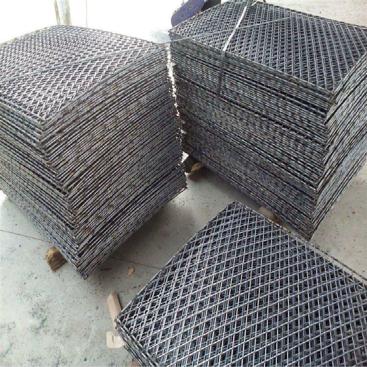 郑州钢笆生产厂-楼层脚踏板钢筋焊接网-带边喷漆钢笆大尺寸网片