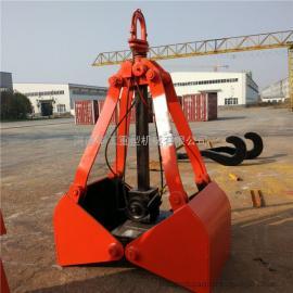 装载机绳索单钩抓斗 X30重型3立方挖掘机抓具 抓石器