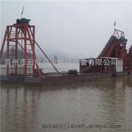 河道里可以挖砂石的链斗船 河道链斗船配置参数