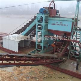 挖沙船厂家推荐配置 安徽挖石头船采用链斗式挖沙船