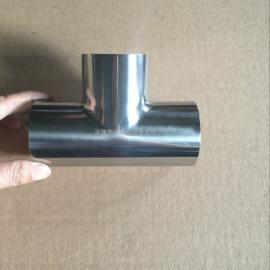 供应镜面抛光卫生级焊接/快装三通,卫生级不锈钢三通