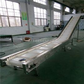 大倾角爬坡机白色PVC食品流水线运输传送带输送机非标定做