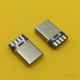 TYPE-C公头铆合款焊线式6P