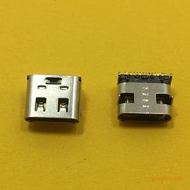 TYPE-C母座短体前插后贴16P(有弹)