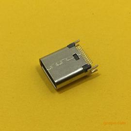 TYPE-C母座夹板1.0长度:10.5MM