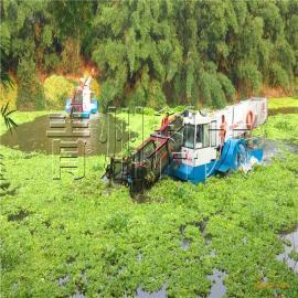 全自动水上割草船、水葫芦收割机械、青州水生植物打捞船厂家