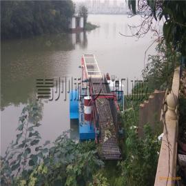 河道水浮莲打捞船、全自动清理水浮莲机械、水上清漂船