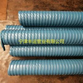 壁挂式吸气臂风管焊烟抽尘器软管蓝色通风管