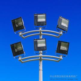 肇庆足球场照明高杆灯安装 15米金卤灯柏克体育厂家送货上门