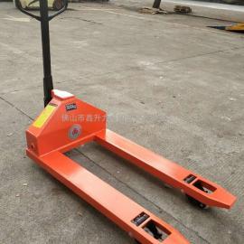 载荷5吨手动液压搬运车货物装卸车厂家批发价出售