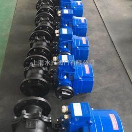 QT系列铸钢电动球阀_QT电动执行器