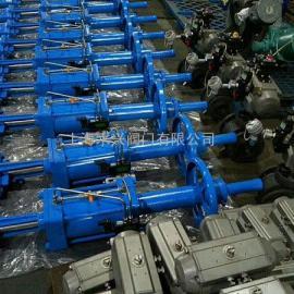 PZ673F46-10/16C/P气动衬氟刀型闸阀