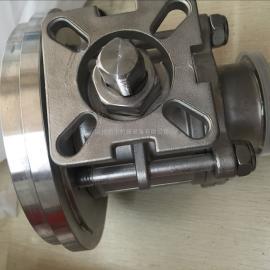 供应不锈钢放料球阀 罐底球阀 高平台球阀