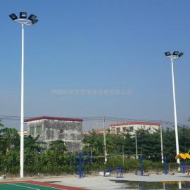 三亚市室外篮球场灯杆厂家 8米蓝球场照明电线杆 篮球场专用灯