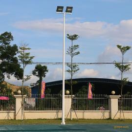 江门市篮球场球场地划线尺寸 篮球场中杆灯高度 室外篮球场灯具