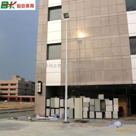 肇庆市篮球场灯杆标准设计图 室外篮球场用什么灯 篮球场灯价格