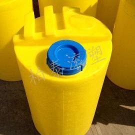 2立方平底药剂搅拌桶 带电机加药箱(安装图)