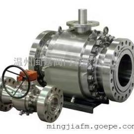 Q347F国标蜗轮固定球阀不锈钢球阀