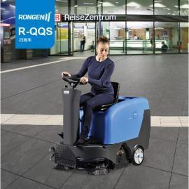 无锡驾驶式扫地车,容恩品牌R-QQS纺织车间棉絮电动清扫车
