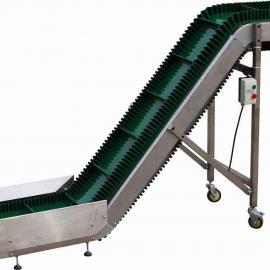 PVC PU爬坡输送带 绿色5.0输送带 液压升降式传送带 夹心花纹带