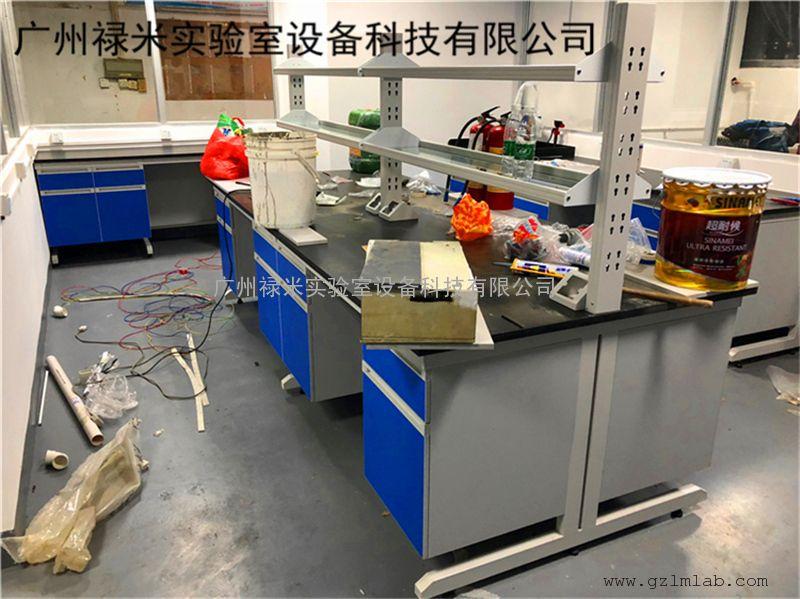 化验室钢木实验台安装,钢木中央台定做