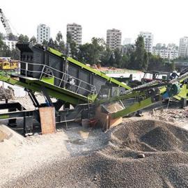 深圳绿悦:又一套轮胎式移动破碎筛分设备投产