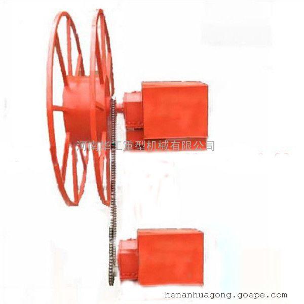 软电缆电动卷筒 定做水管弹簧卷盘器 JD型中间供电25平方收线盘