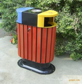 广东中山市政道路果皮箱 双桶垃圾桶 【垃圾桶公司】