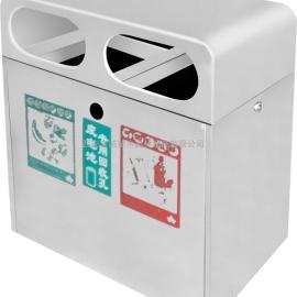 西安不锈钢环卫垃圾桶厂家_西安钢板环保垃圾箱价格_分类果皮壳