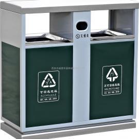 西安公园分类垃圾桶_宝鸡小区环保果皮箱_渭南商场不锈钢垃圾箱